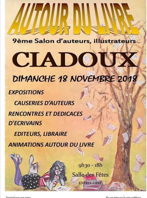 Mon retour sur le salon «Autour du livre» de Ciadoux de 2018