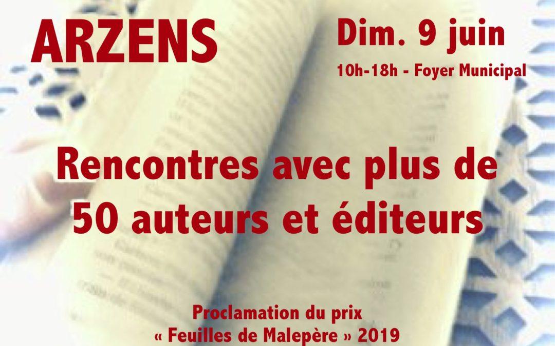 8 ème salon du livre d'Arzens (10 juin 2019)